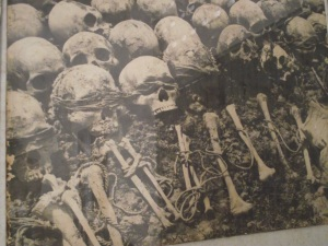 Only one shot of the hundreds of pictures of dead bodies and bones.