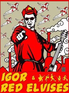 Red Elvis Poster