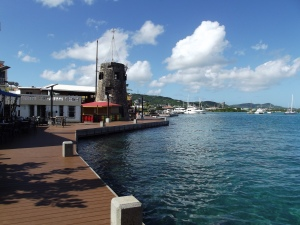 Gorgeous boardwalk in Christiansted.